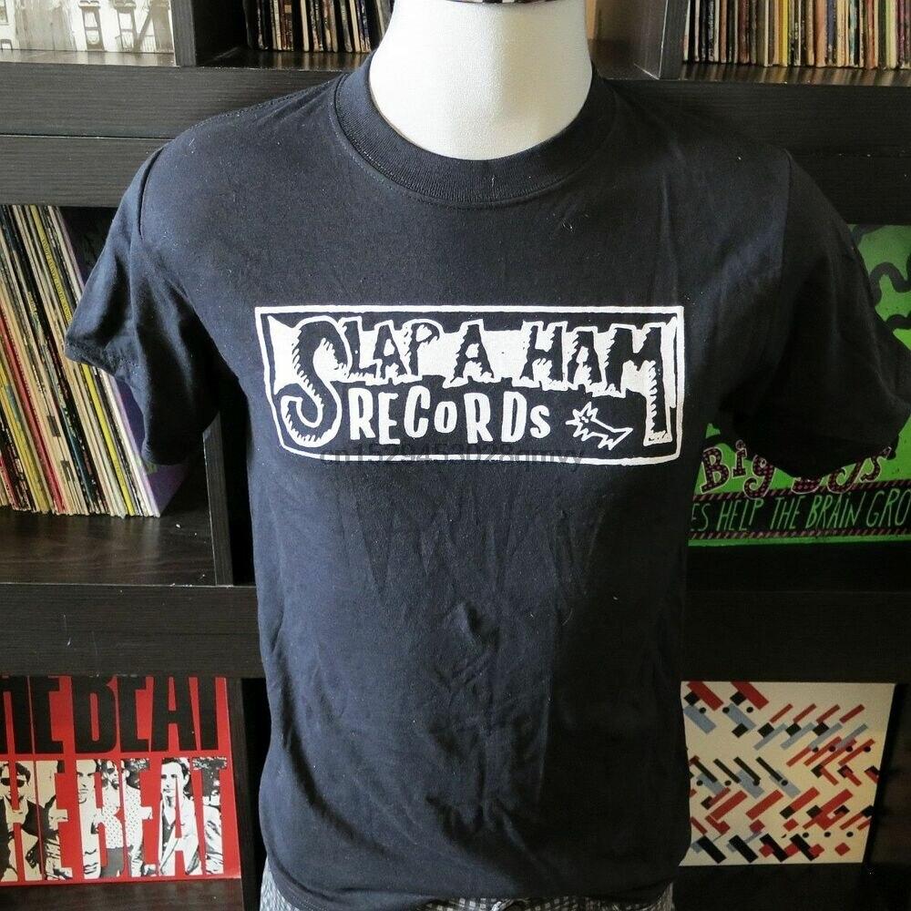 Camiseta con estampado de discos de madera de savia a Ham