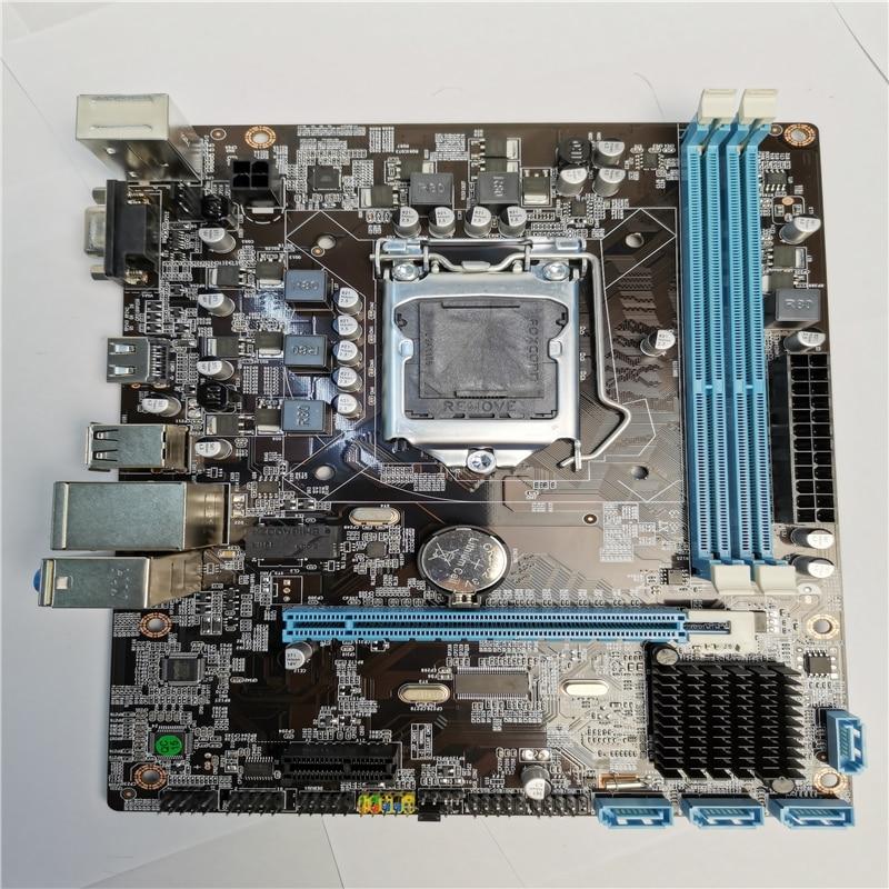 Intel H55 carte mère LGA 1156 DDR3 16GB pour Intel H55 prise de carte mère de bureau série i3/i5/i7 CPU SATA II PCI-E X16 nouveau BIOS