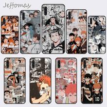Haikyuu Hinata Aanvallen Anime Zwarte Telefoon Case Romp Voor Samsung A20 A30 30S A40 A7 2018 J2 J7 Prime j4 Plus S5 Note 9 10 Plus