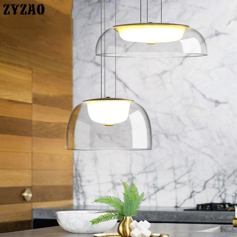 Post-modern Designer Glass Pendant Lights Dining Room Living Room Kitchen Hanging Lamp Simple Hanglamp Home Decor Light Fixtures