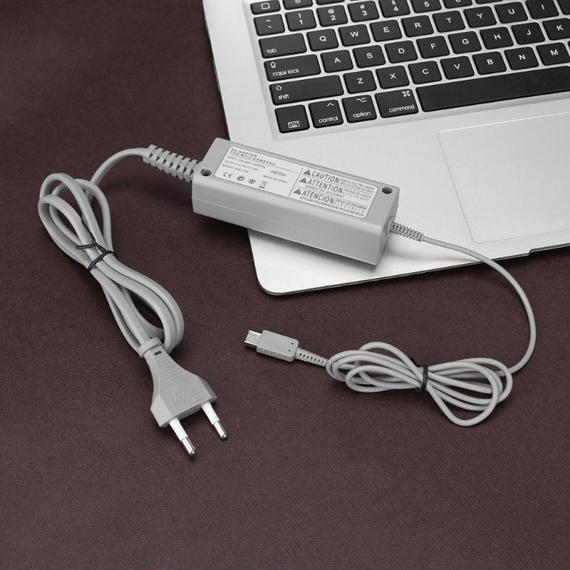 Adaptador de fonte de alimentação ac, carregador adequado para nintendo wii u gamepad console de jogos e acessórios