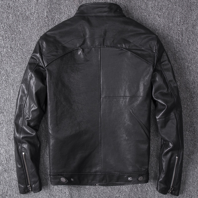 Spring Autumn Genuine Leather Jacket Men Streetweaar 100% Real Sheepskin Coat Man  Biker Vintage Leather Jackets