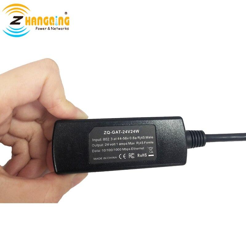محول PoE 24V ، 24V ، 48V إلى 24V ، 24W لـ miكرونة وغيرها من أجهزة PoE ، إدخال 802.3af ، خرج 24V