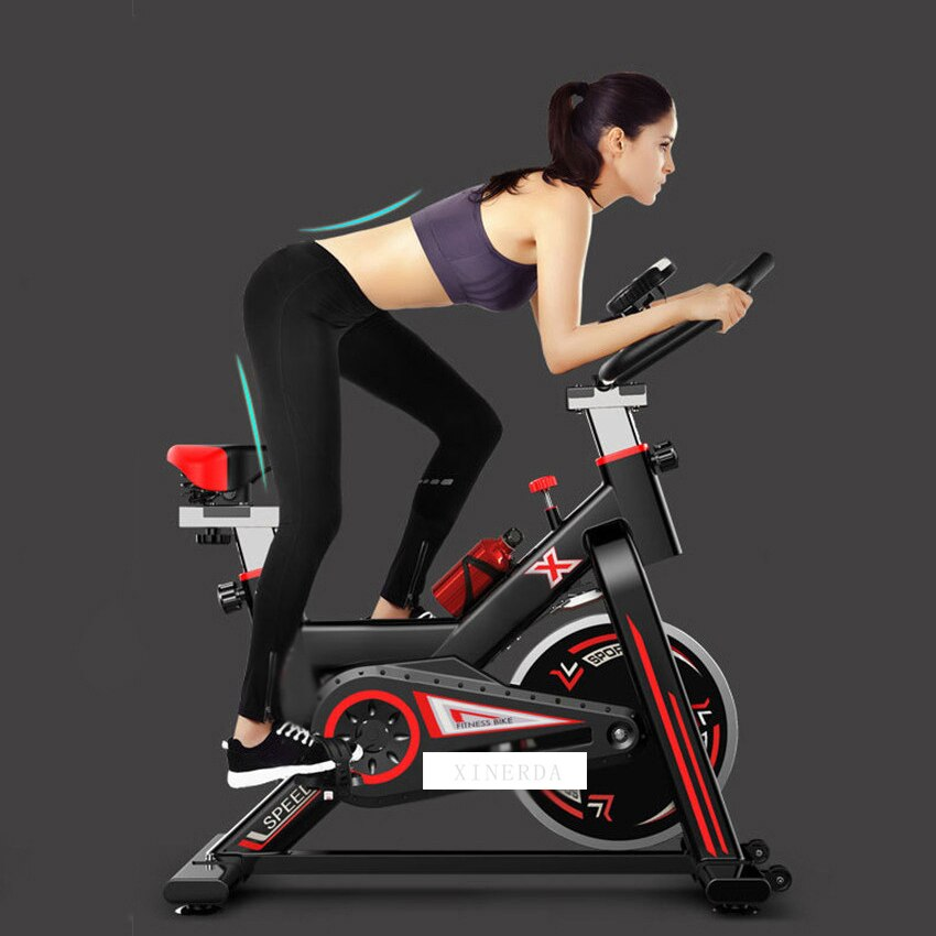 Indoor Cycling Bike Home Sport Trainer Speed Resistance Mute Smart Exercise Bike Lose Weight Fitness