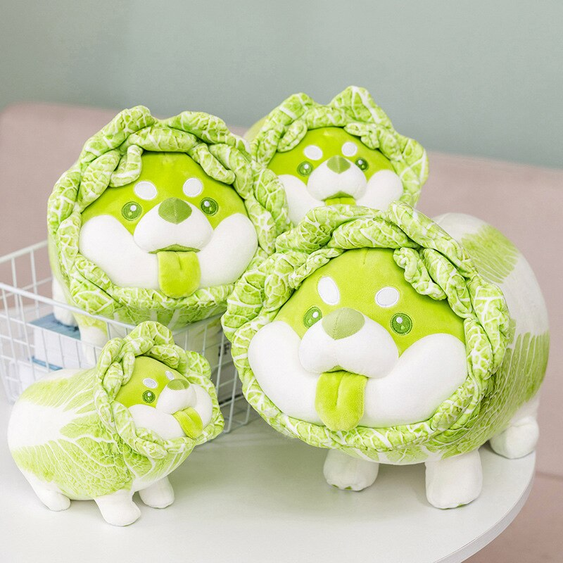 Симпатичная японская овощная собака, плюшевые игрушки, креативная китайская капуста, подушка Шиба-ину, Мягкое Животное, диванная подушка, д...