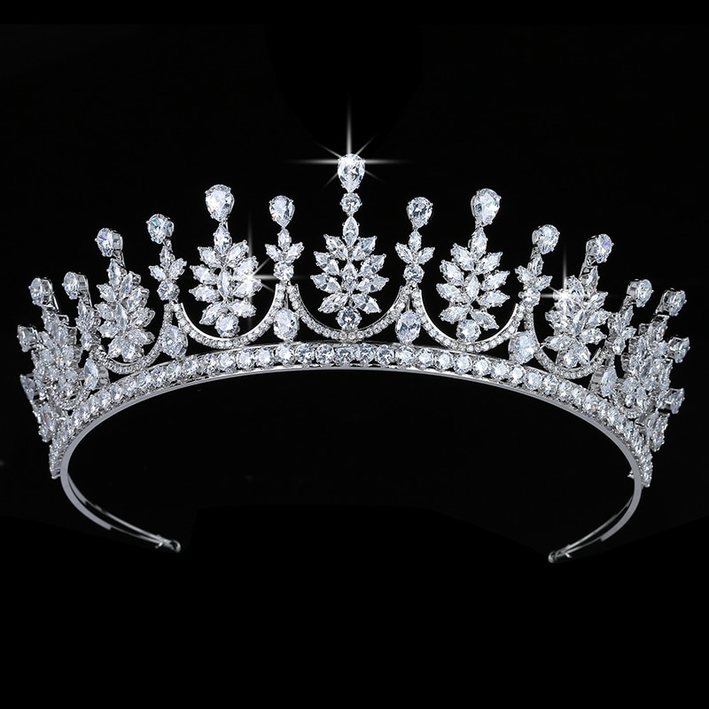 Корона HADIYANA, винтажные женские свадебные украшения для волос, модные вечерние аксессуары для волос, высокое качество, циркон, BC5680 Corona Princesa