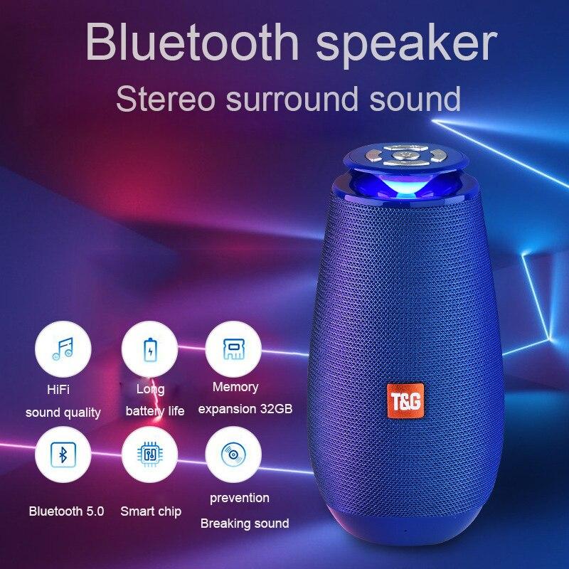 2019 nuevo TG Flash LED iluminación Bluetooth altavoz exterior portátil inalámbrico columna graves altavoz soporte TF tarjeta FM Radio AUX