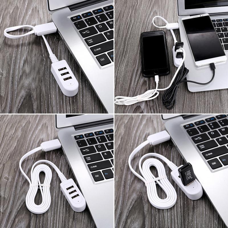 3 Port USB Multi-función 3A convertidor de cargador de línea de extensión...