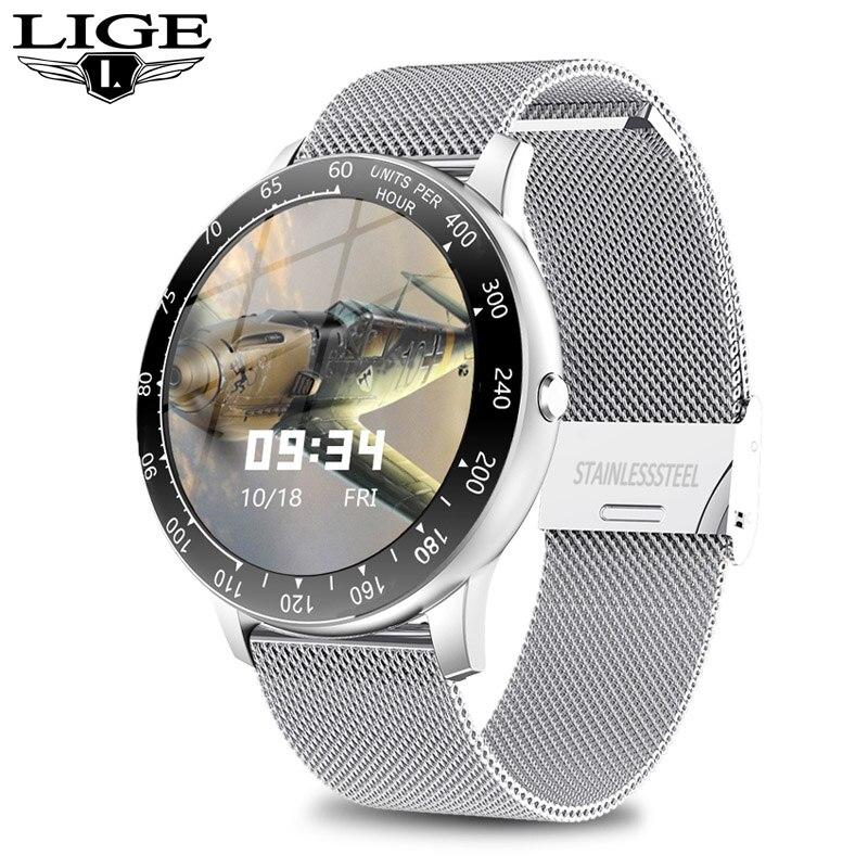 Reloj inteligente deportivo para Android y iPhone, reloj inteligente de actividad con pantalla táctil y resistente al agua para hombre y mujer