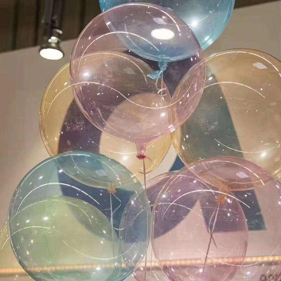 5 шт./лот 16 дюймов цветной хрустальный шар круглые прозрачные воздушные шары Bobo Свадебные гелиевые надувные шары