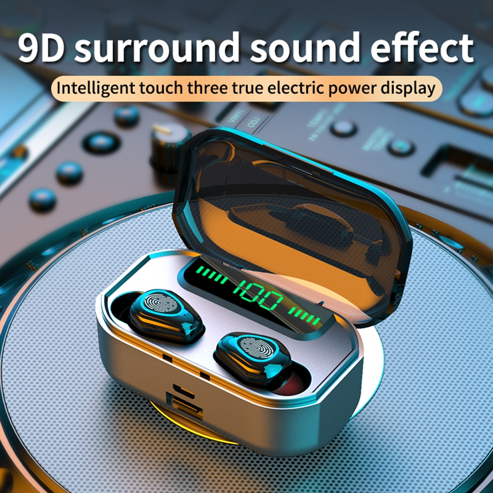 Bluetooth 5.0 Earphones Stereo Headphones G20 TWS Wireless with Charging Case Easily Carrying Lightweight Earphone Part