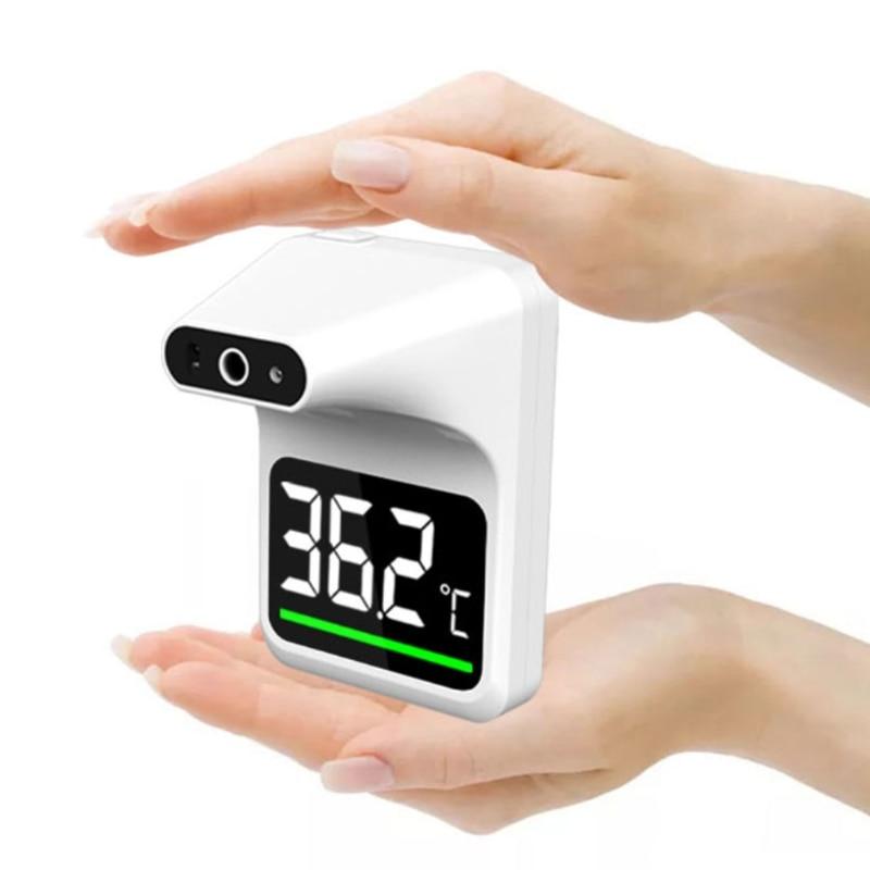 Automático sem Contato Fixado na Parede da Testa k3 da Febre do Termômetro Alarme Infravermelho
