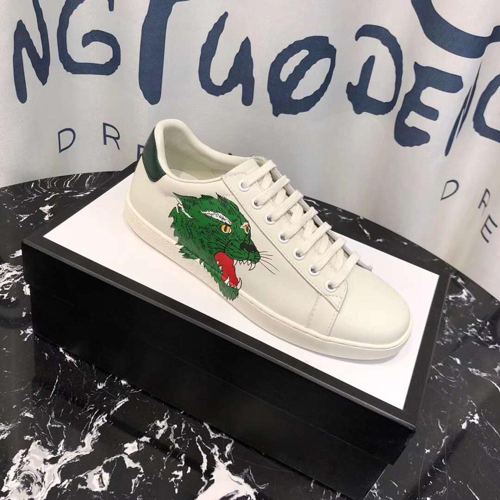Designer Brand Man Luxury Sneakers obuwie męskie i damskie wysokiej jakości 20200 oryginalne skórzane modne buty wsuwane białe buty dla mężczyzn