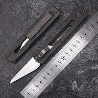 tc4 titanium alloy heavy duty utility knife thickened edc olfa high carbon steel wallpaper knife