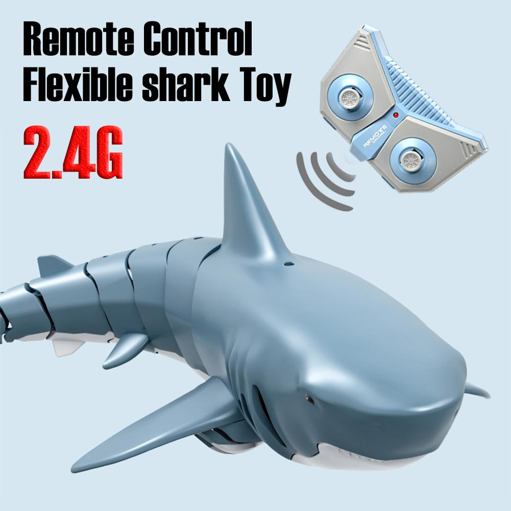 2021 New 2.4G Bionic Simulation Remote Control Shark Model Waterproof Toy For Kids Adults Funny Swimming Pool Bathroom Toys