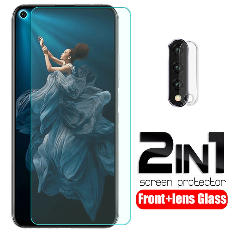 2-in-1 tempered glass for honor 20 pro 6.26