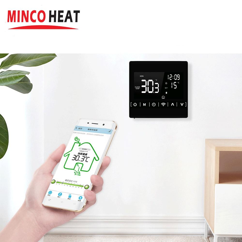 جهاز تحكم عن بعد منظم الحرارة غرفة ترموستات واي فاي 110 فولت 120 فولت 230 فولت جميع شاشة تعمل باللمس متحكم في درجة الحرارة منظم الحرارة