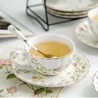 european style floral coffee cup expresso modern original ceramic dessert cups milkshake cappuccino beautiful tazas drinkware