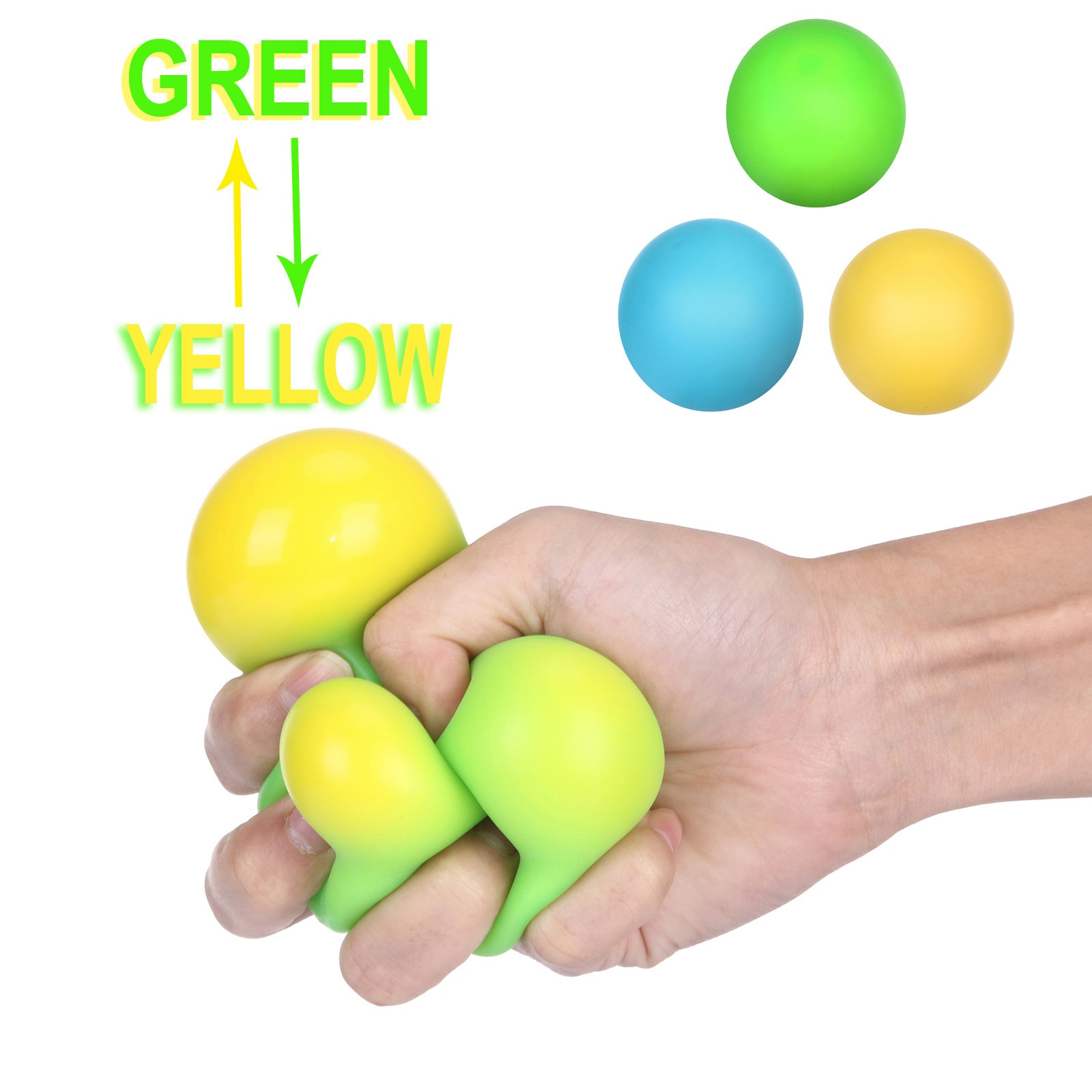 Office Toy Color Changes To Reduce The Pressure Ball Great Stress-Relieving Toy Toys For Children Popite Antistress Fidget Toy enlarge