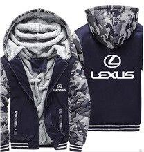 Sweat à capuche pour homme Lexus voiture Logo imprimé veste pulls à capuche pour hommes hiver épaissir chaud polaire coton Zipper Camouflage Raglan hommes manteau veste
