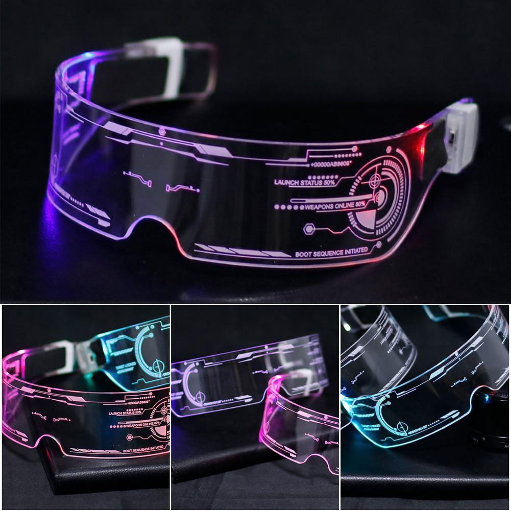 LED Glasses EL Wire Neon Party Luminous LED Glasses Light Up Glasses Rave Costume Party Decor DJ Gla