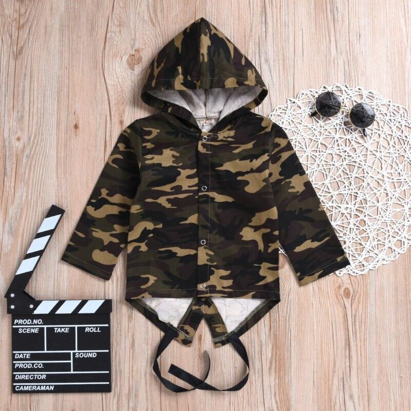 Baby Boys Girls Coat Toddler Camo Autumn Winter Long Sleeve Hooded Jacket Outwear Tracksuit Coats