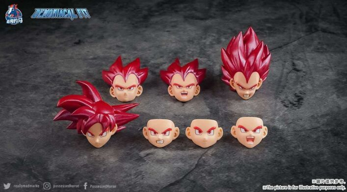 Demoniacal fit capuz para dbz, conjunto de acessórios para cabelo vermelho goku god son gokou vegeta