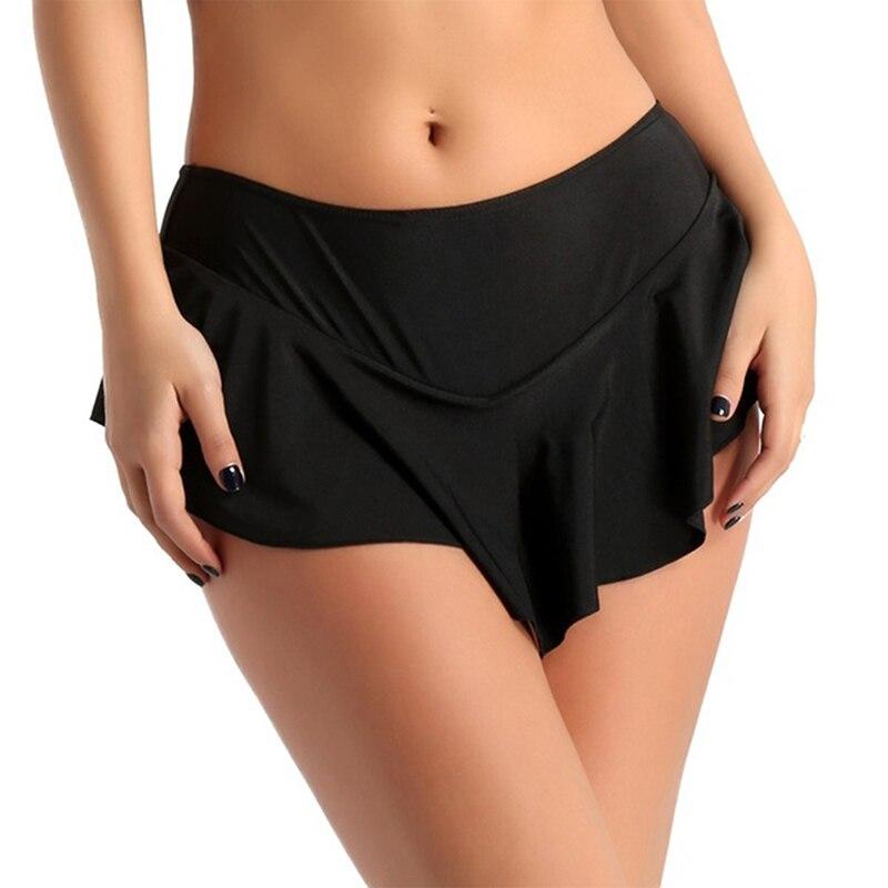 Faldas a la moda para mujer 2019 Solid Tennis de cintura alta Plain Skater plisada con vuelo Mini faldas calientes