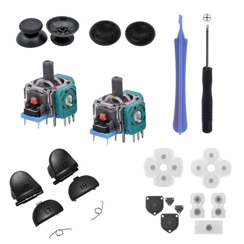 Original Replacement Parts L1 R1 L2 R2 Trigger Buttons Conductive Rubber Button Repair Parts For Sony PS4 PRO Slim Controller