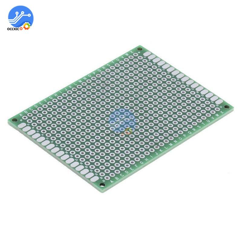 10Pcs זוגי צד אב טיפוס PCB nned אוניברסלי טיפוס 5x7 cm 50mm x 70mm FR4