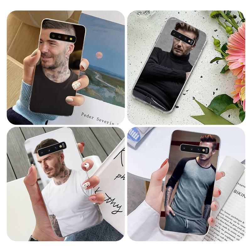 Funda blanda para teléfono David-Beckham Samsung S10 S10lite S9 S9plus S8 S7 S6 S6edge, funda transparente