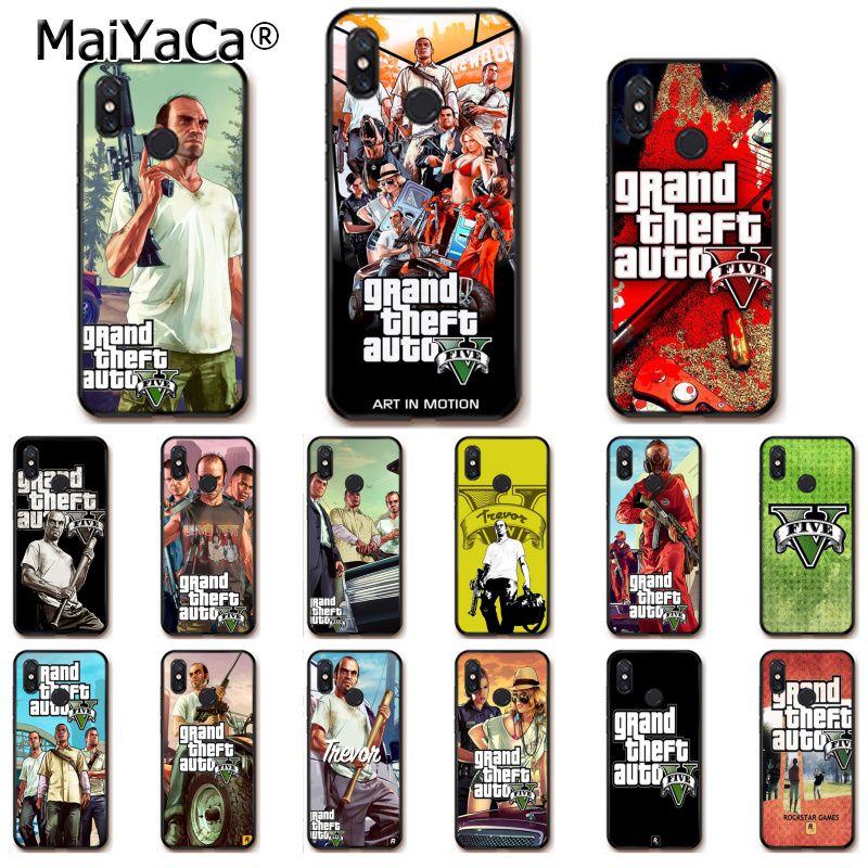 MaiYaCa Gta 5 Grand Theft Auto V чехол для телефона для Xiaomi mi5 6 A1 A2 Lite Mi9 9SE mi8lite F1 Mix2 2S Max2 3