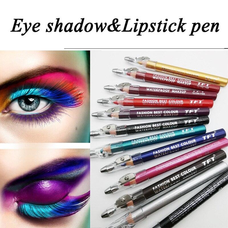 1PC Eyeliner Waterproof Long-lasting Matte Lipstick Pencil Lip Liner Sexy Makeup Contour Women Fashi