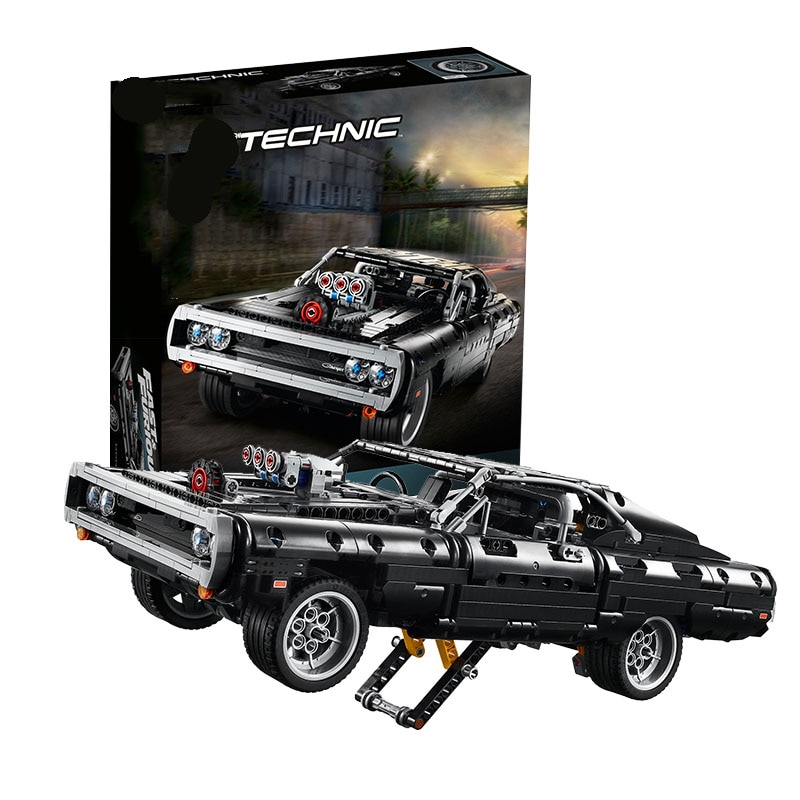 En stock Compatible 42111 Technic Dodged cargador Building Blocks Creator Expert Bricks Set niños modelos juguetes regalos