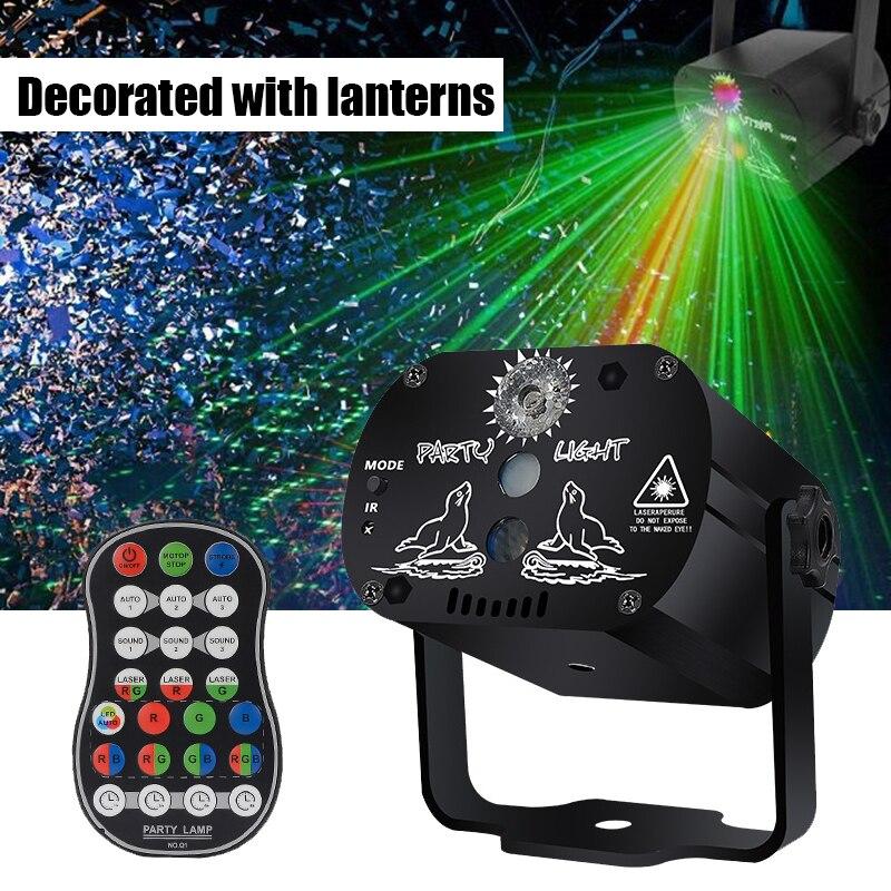 Портативный лазерный дисплей 2021, лазерный бокс, проектор с дистанционным сканированием RGB, светодиодный стробоскоп вечерние, сцсветильник ...