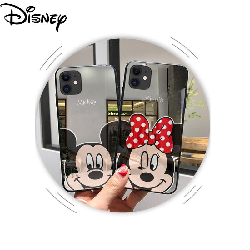 Disney Mirror Phone Cover for iPhoneX Phone Case XS max Mirror Couple Phone Case  - buy with discount
