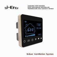 Régulateur de détection dair de capteur de CO2 dintérieur à la maison avec laffichage de détection de température et dhumidité