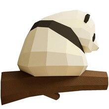 Gros cul Panda 3D Papercraft bricolage à la main Papercraft ornements ornements géométrique Origami Composition tridimensionnelle