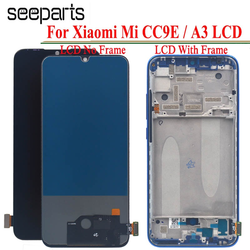 TFT para Xiaomi Mi A3 LCD MIA3 Touch para Xiaomi MI CC9E reemplazo de pantalla digitalizador Sensor de cristal para pantalla Xiaomi Mi A3