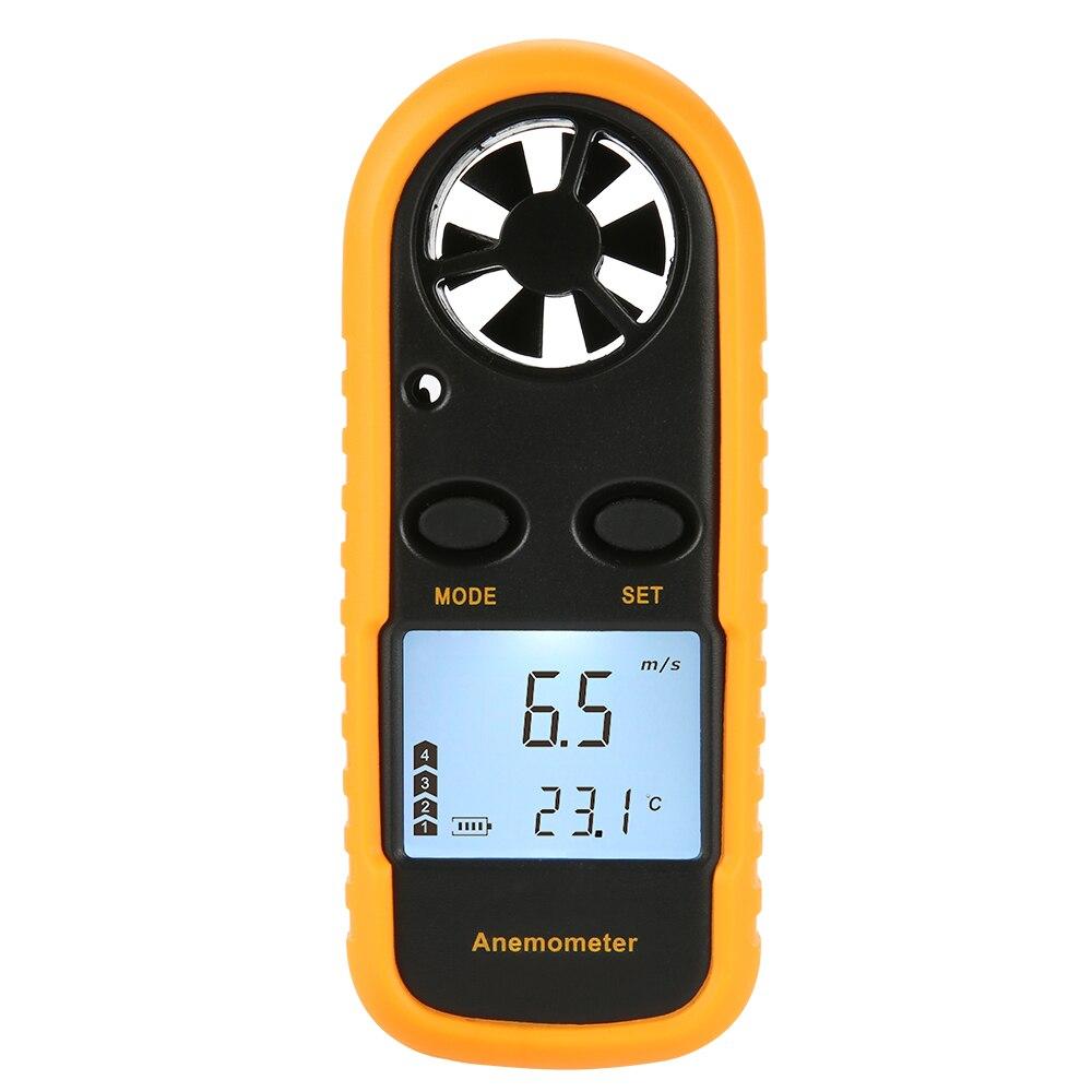 Mini Anemómetro Digital LCD, velocidad del viento, medición de la temperatura del aire con retroiluminación