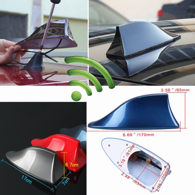 Car Antennas Shark Fin Antenna Auto Radio Signal Aerials Roof Antennas for universal car model Car Styling