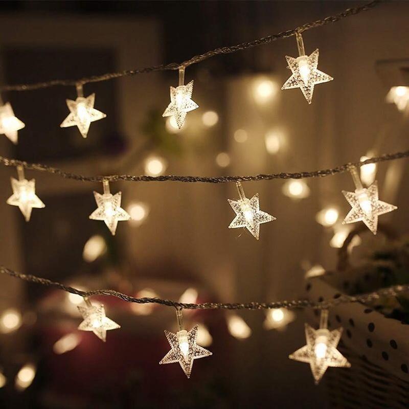 guirlandas de luz led decorativas 10 20 guirlandas de estrela decorativas alimentadas