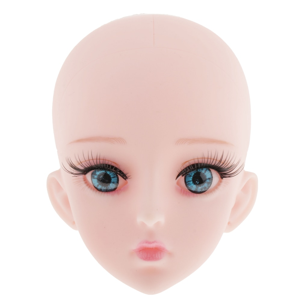 1/3 bjd boneca cabeça molde com pele & 4d olhos definir para dod sd dz bonecas diy personalizado cosplay bonecas fazendo e reparação