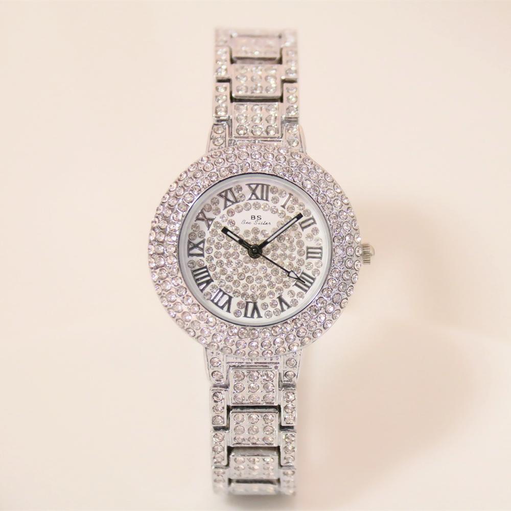 Relógios de Quartzo Montre Femme Elegante Mulher Famosa Marca Luxo Diamante Alta Qualidade Strass Relógio Pulso Senhoras Casual Relógios