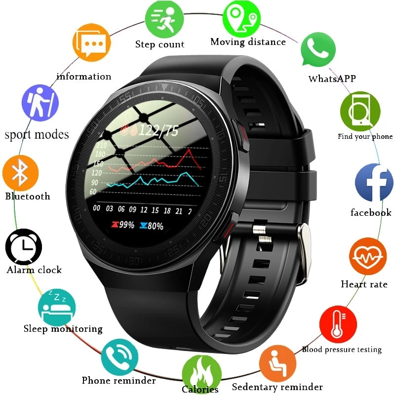 GEJIAN Bluetooth Call Smart Watch Men 8G Memory Card Music Player smartwatch For Android ios Phone W