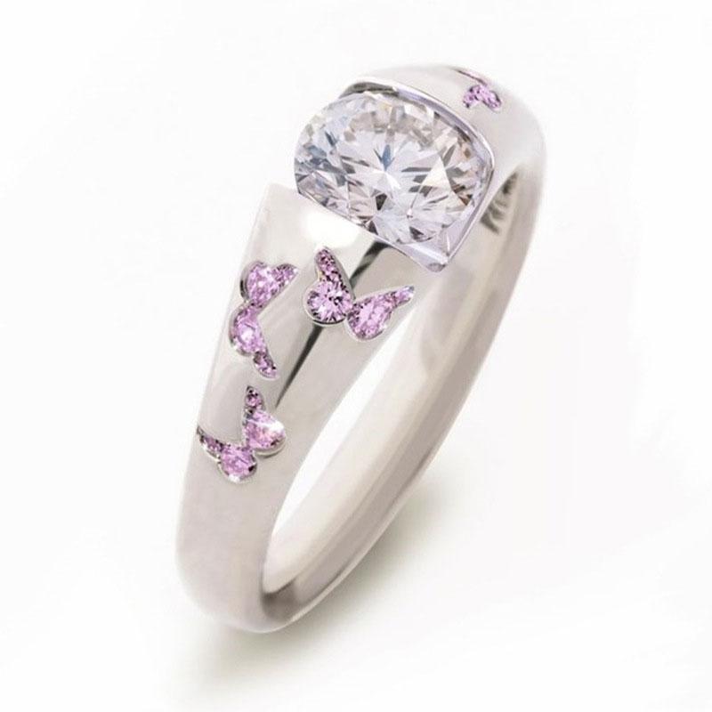 Gran oferta de anillos de mariposa para mujeres y niñas, anillo de compromiso delicado de moda 2020, nuevos regalos de joyería de dedo de declaración