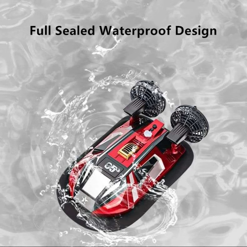 Dual Motor Amphibous Remote Control Hovercraft 20KM/H 2.4G Anti-Collision Fuselage 2-Way Navigation Waterproof RC Boat Water toy enlarge