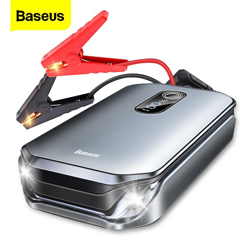 Baseus 12000mAh Car Jump Starter Power Bank 12V Auto Starting Device 1000A Car Booster Battery Emergency Starter Battery for Car