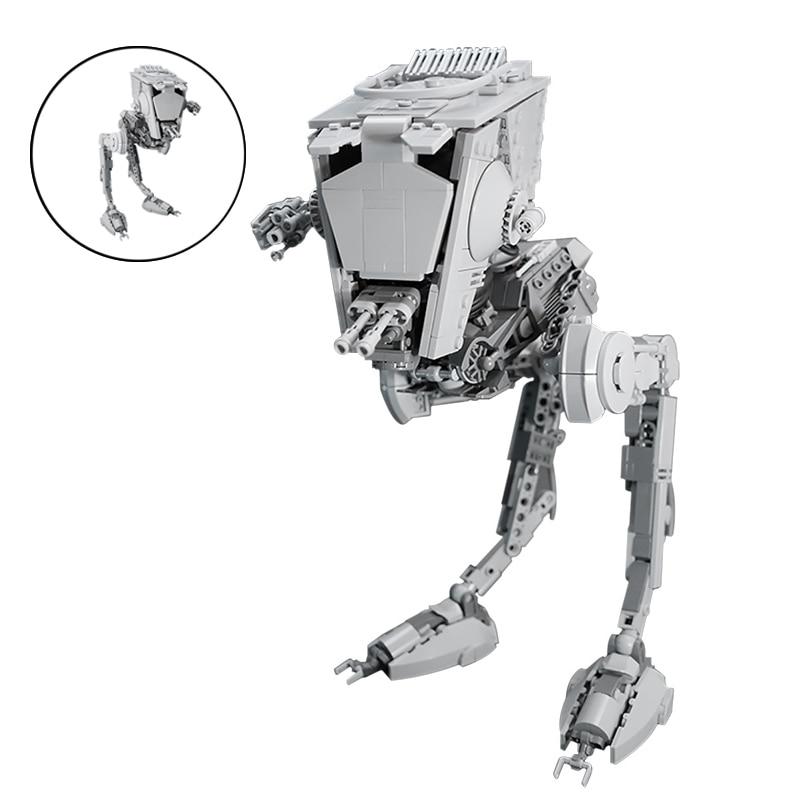 MOC-Robot de bloques de construcción articulado SW AT-ST para niños, Kit de...