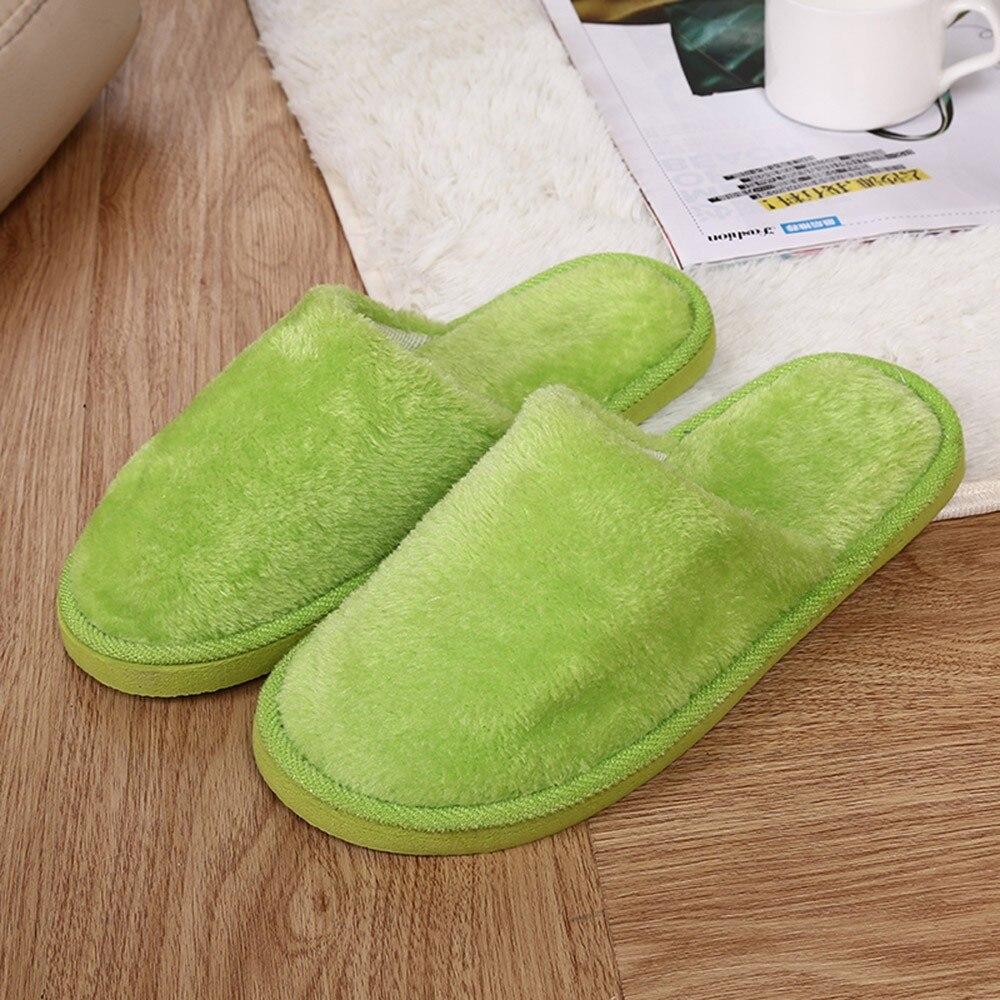 Pantuflas cálidas para Invierno para mujer, pantuflas suaves De felpa para el...